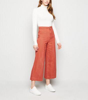 Sunshine Soul Bright Orange Wide Leg Culottes New Look