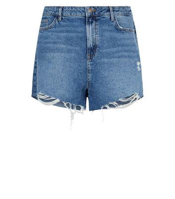 Curves Short mom en jean bleu taille haute Ajouter à la Wishlist Supprimer de la Wishlist