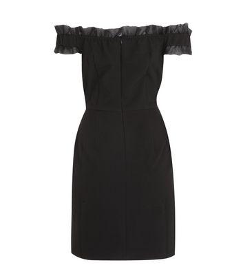 Another Look Black Frill Bardot Mini Dress New Look