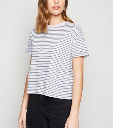 White Stripe Boxy T-Shirt