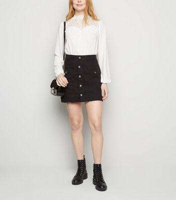 Urban Bliss Black Denim Skirt New Look