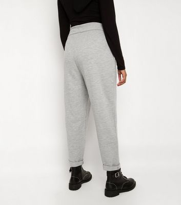 Till We Cover Pale Grey Contrast Waist Joggers New Look
