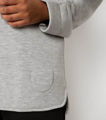 Till We Cover Pale Grey Scuba Top New Look