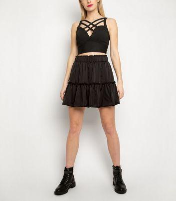 Cutie London Black Strappy Bandage Crop Top New Look