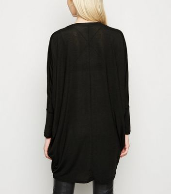 Blue Vanilla Black Diamanté Oversized Top New Look