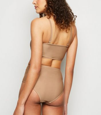 Vero Moda Light Brown Bandeau Bikini Top New Look