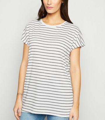 White Stripe Long T-Shirt