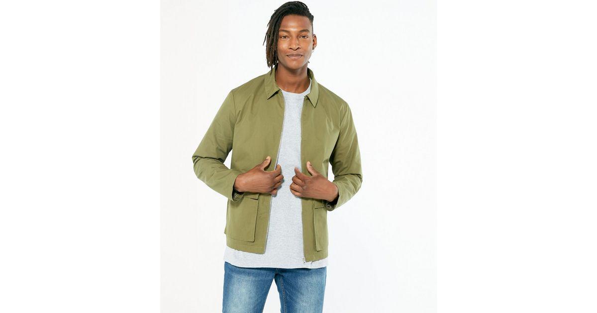 Khaki Light Utility Jacket   New Look