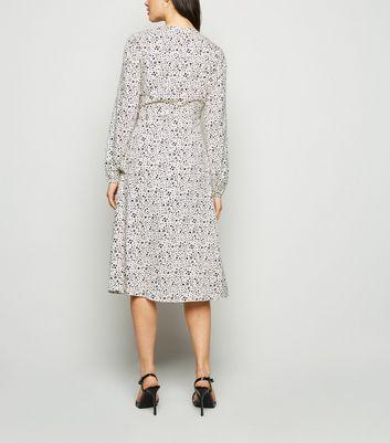 madam rage white heart wrap midi dress new look