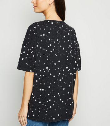 Noisy May Black Star and Moon T-Shirt New Look
