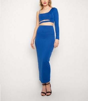New Age Rebel Bright Blue Cut Out Crop Top New Look