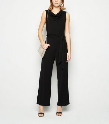 Mela Black Cowl Neck Sleeveless Jumpsuit New Look