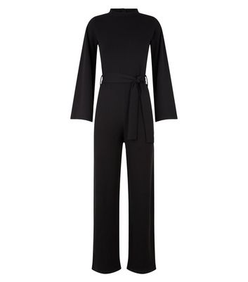 Missfiga Black High Neck Belted Jumpsuit New Look