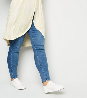 Vero Moda Curves Cream Stripe Split T-Shirt New Look