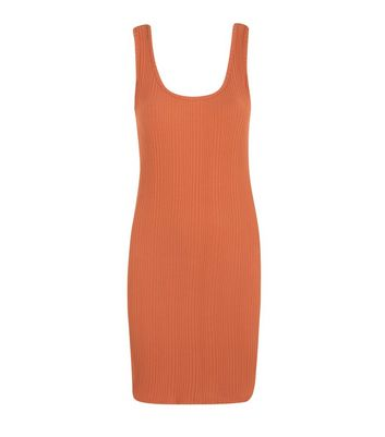 Click to view product details and reviews for Jdy Rust Ribbed Bodycon Dress New Look.
