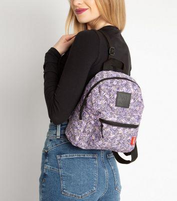 Artsac Pink Line Print Backpack New Look