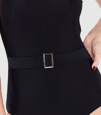 Beachcomber Black Belted Swimsuit New Look