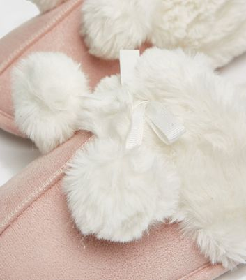 shop for Pink Suedette Faux Fur Lined Mule Slippers New Look Vegan at Shopo