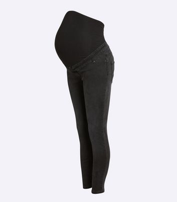 Click to view product details and reviews for Maternity Dark Grey Over Bump Lift Shape Jeggings New Look.