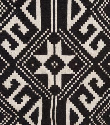 Sunshine Soul Black Aztec Tassel Hem Skirt New Look