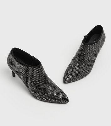 shop for Black Diamanté Stiletto Shoe Boots New Look Vegan at Shopo