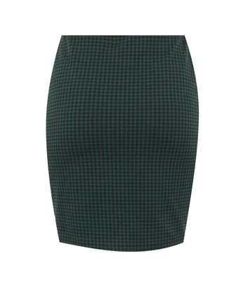 Click to view product details and reviews for Dark Green Jacquard Check Mini Tube Skirt New Look.