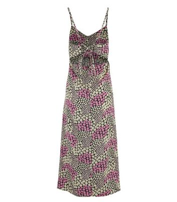 Click to view product details and reviews for Purple Daisy Tie Back Maxi Dress New Look.