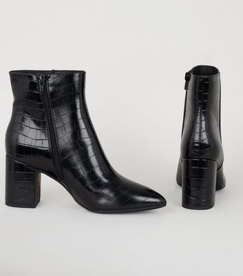 cheap black heeled ankle boots