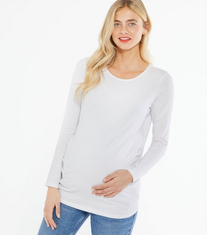Maternity 3 Pack White Black and Grey Long Sleeve Tops