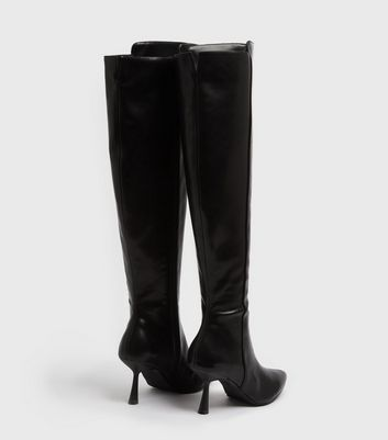 shop for NA-KD Black Knee High Stiletto Boots New Look at Shopo