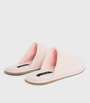 shop for Vero Moda Pink Teddy Slippers New Look at Shopo