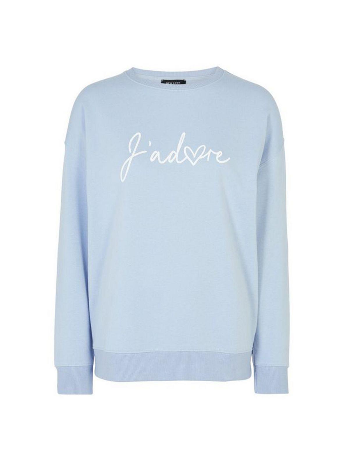 Blue J'Adore Slogan Sweatshirt