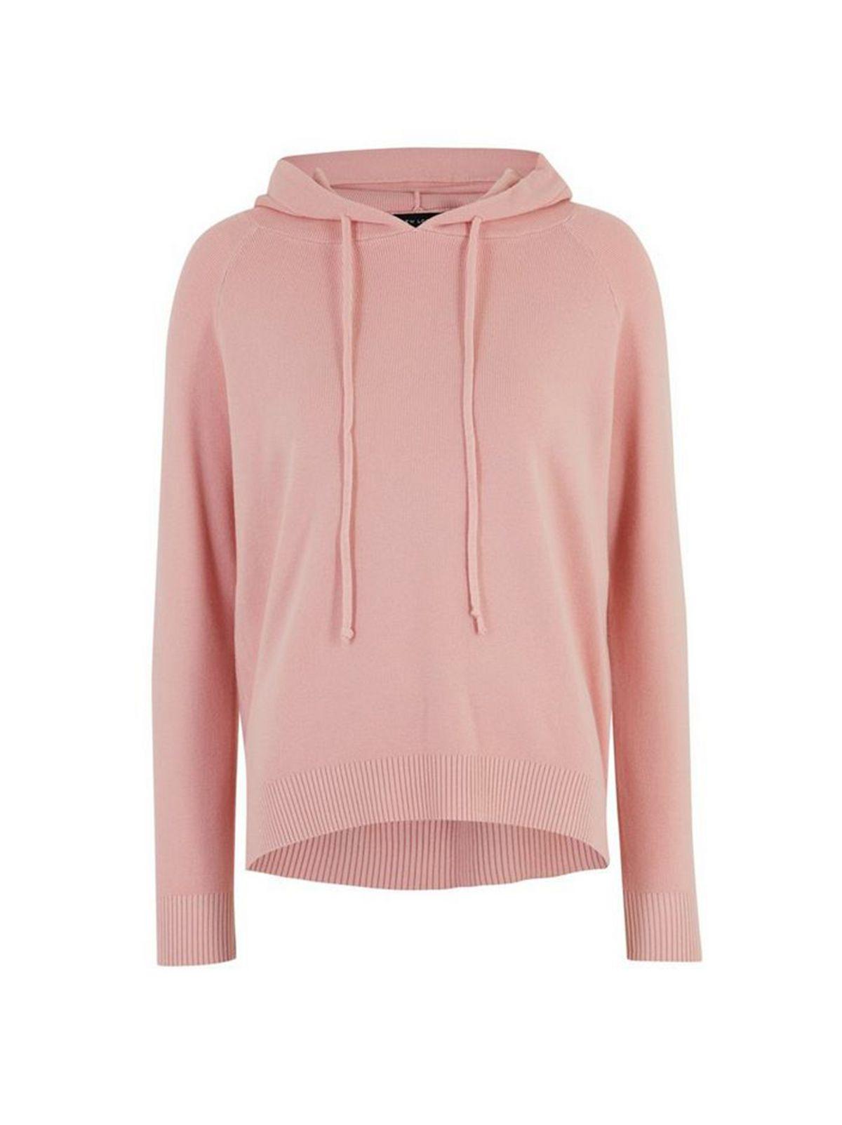Pink Knit Hoodie