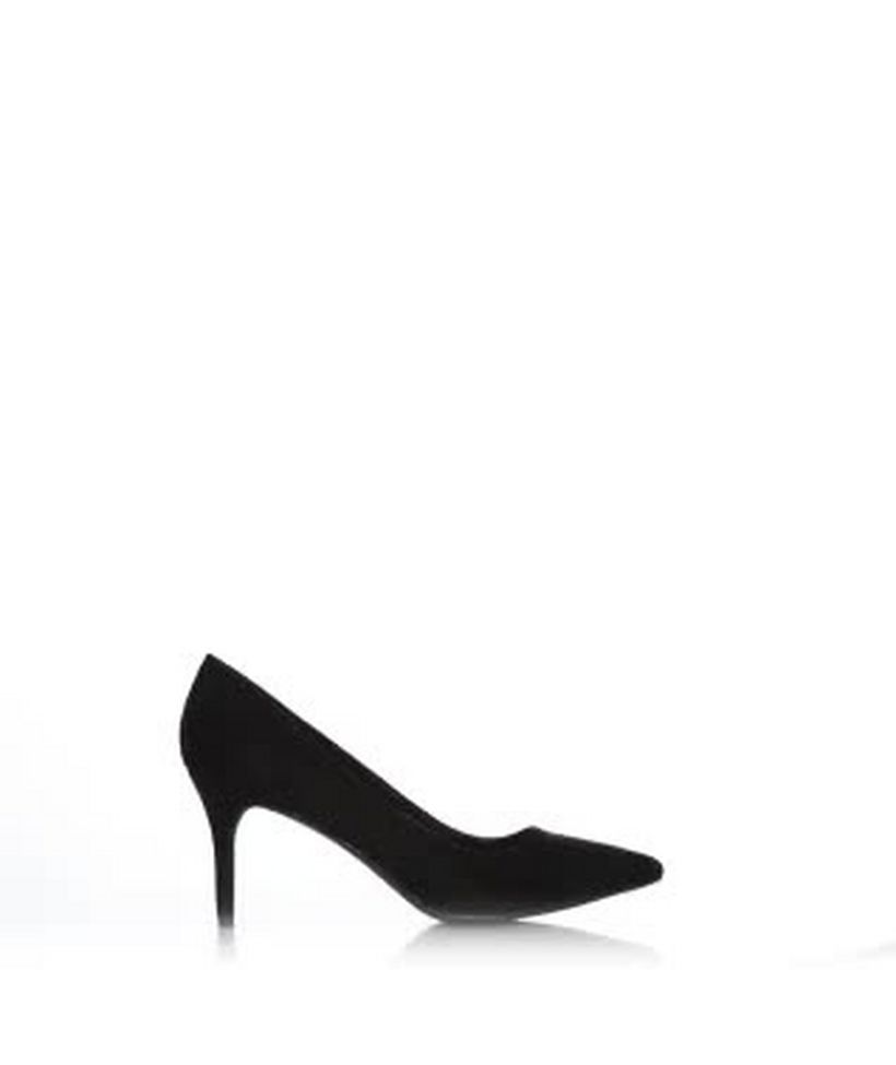 922e888f2b6 Black Suedette Mid Heel Pointed Court Shoes Add to Saved Items Remove from  Saved Items
