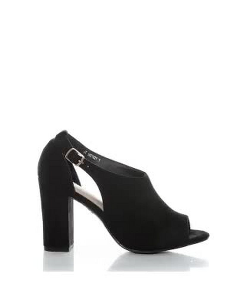 8da43a01b7 Black Comfort Flex Suedette Peep Toe Block Heels | New Look