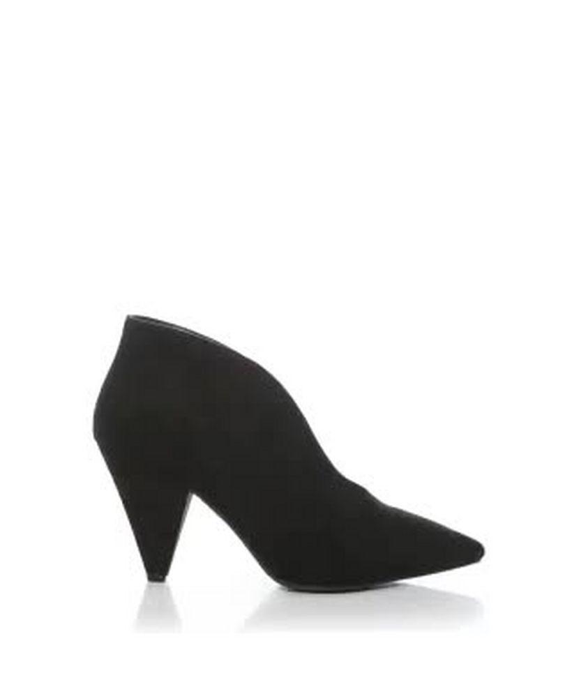 f80a62bc1dca Wide Fit Black Suedette V Front Shoe Boot